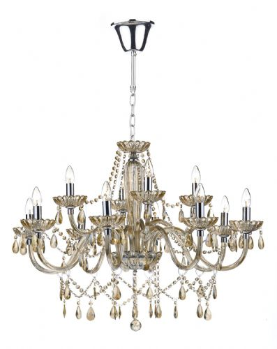 Raphael 12 Light Chandelier Champagne Crystal (Class 2 Double Insulated) BXRAP1206-17